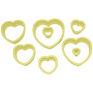 Cortador de Coração Com 8 Peças