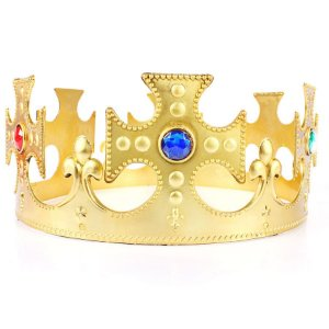 Kit Coroa Rei Plástica Ajustável C/100