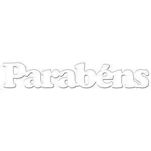 Enfeite Parabéns Provençal Branco