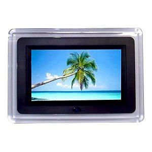 Porta Retrato Digital Preto LCD 7 Polegadas