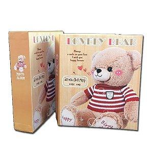 """Álbum de Fotografia """"Lovely Bear"""" Dourado Para 80 Fotos"""