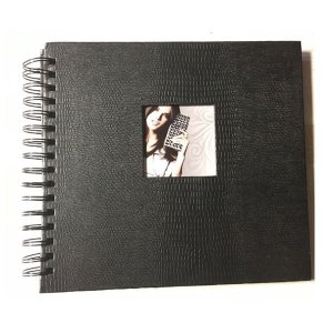 Álbum de Fotografia Caderno Preto 24 folhas