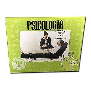 """Porta Retrato Vidro """"Psicologia"""" 10x15"""