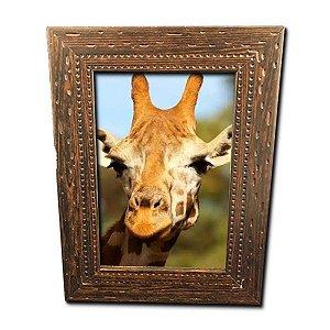 Porta Retrato Marrom Pontilhado 10x15
