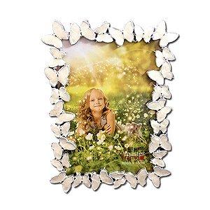 Porta Retrato Cromado Borboletas 10x15