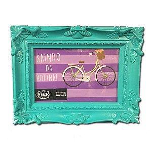 Porta Retrato Moldura Verde 15x10