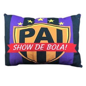 Almofada ''Pai Show de Bola!'' em Camurça