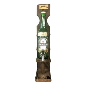 Pingômetro de Madeira Heineken 600ml