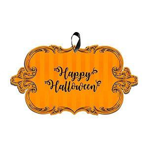 "Placa Para Porta Halloween ""Happy Halloween"""