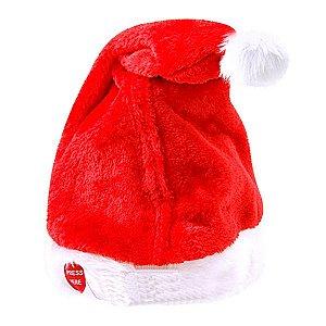 Touca de Natal Vermelha com Música e Movimento