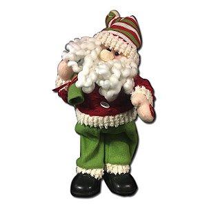 Enfeite Papai Noel Musical 32,5 cm