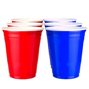 200 Unidades de Red e Blue Cups Variados | 400ml