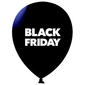 Balão | Bexiga Nº11 | Black Friday Preto | C/25