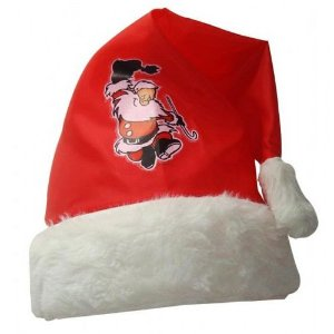 Gorro Natal Papai Noel Estampado | Kit C/100