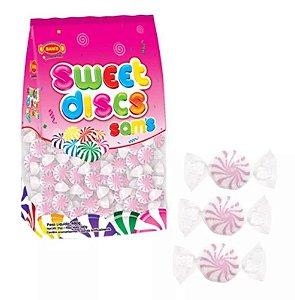 Bala Sweet Discs Sam's  Morango | Rosa | 480g