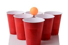 Kit Beer Pong C/3 Bolas e 50 Copos Red
