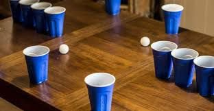 Kit Beer Pong C/3 Bolas e 50 Copos Blue