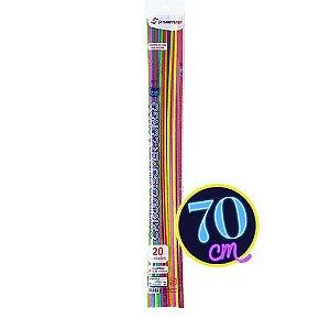 Canudo Super Longo C/20 | 70cm | Strawplast