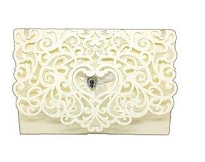 Envelope P/ Convite De Casamento Luxo Ret. Rendado C/60