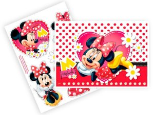 Kit Decorativo Red Minnie C/08