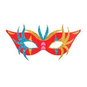 Painel Decorativo Máscara de Carnaval Vermelha | EVA