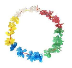 Colar Havaiano Plástico Colorido