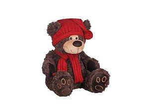 Urso de Pelúcia Sentado Marrom