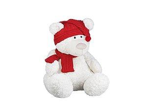 Urso de Pelúcia Sentado Branco | 55cm