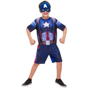 Fantasia Infantil Capitão América Curta Clássica