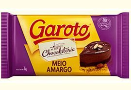 Chocolate Meio Amargo em Barra Garoto | 1kg