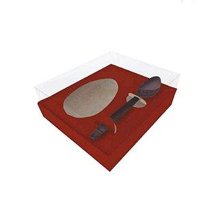 Caixa para Ovo de Colher Vermelha  | 250g