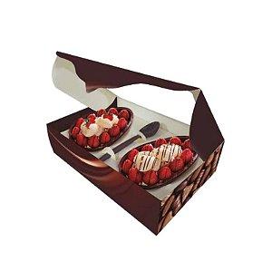 Caixa para Ovo de Colher C/ 2 Espaços P/ Ovos | 250g
