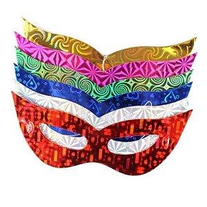 Kit Máscara Holográfica C/50 | Cores Sortidas