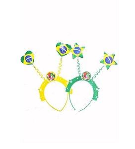Tiara Brasil Coração e Estrela C/10 | Copa do Mundo