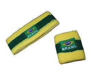 Faixa de Cabelo e Munhequeira Brasil | Copa do Mundo