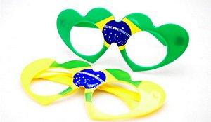 Óculos Coração Brasil | Copa do Mundo
