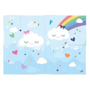 Painel Decorativo 4 Partes Chuva de Amor