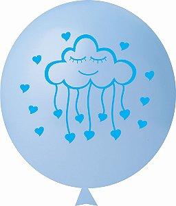 Balão / Bexiga N11 Chuva de Amor Azul Claro | C/25