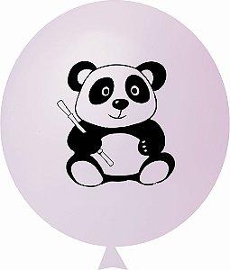 Balão / Bexiga N11 Urso Panda Rosa Bebê C/25