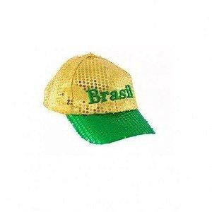 Boné Brasil C/ Lantejoula