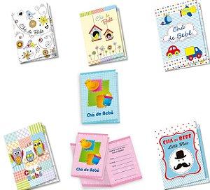 Kit Convites Chá de Bebê C/350 Convites