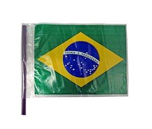 Bandeira do Brasil Plástico Média    P/ Carro