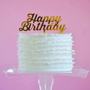Topo de Bolo Acrílico Happy Birthday