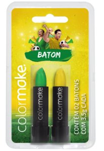 Batom C/2 Verde e Amarelo | Color Make
