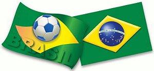 Kit Decorativo Bandeira Brasil C/2 | Copa do Mundo