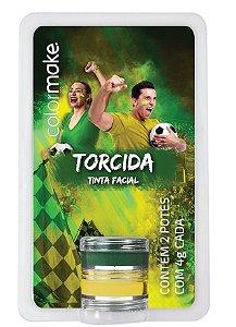 Tinta Cremosa Brasil C/2 | Verde e Amarelo | Color Make