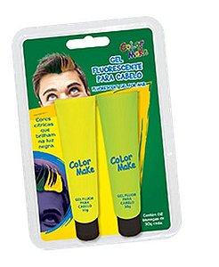 Gel P/ Cabelo C/2 | Verde e Amarelo Fluor |  Color Make