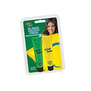 Gel P/ Cabelo e Pele C/2 Brasil Glitter |  Color Make