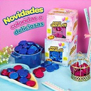 Moedas de Chocolate 370g | Azul ou Rosa