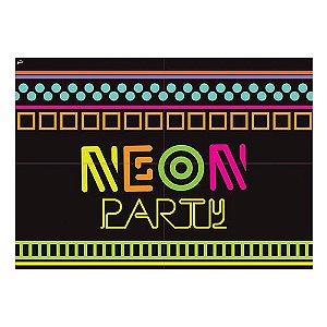 Painel 4 Partes Festa Neon | Junco